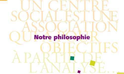 Plaquette de présentation de notre philosophie